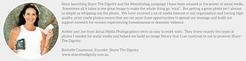 Rochelle Courtenay Share the Dignity Social Media Photographers